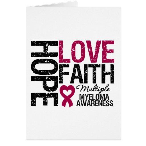 Multiple Myeloma Hope Love Faith Cards