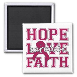 Multiple Myeloma Hope Love Faith Fridge Magnet