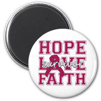 Multiple Myeloma Hope Love Faith Fridge Magnets