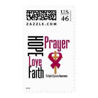 Multiple Myeloma Hope Love Faith Prayer Cross Stamps