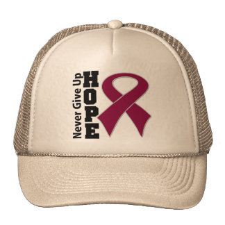 Multiple Myeloma Hope Never Give Up Trucker Hat