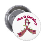 Multiple Myeloma I Am A Survivor Pinback Buttons