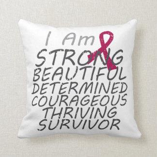 Multiple Myeloma I Am Strong Survivor Throw Pillow