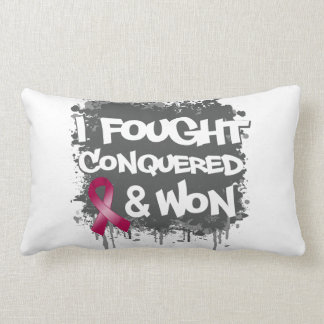 Multiple Myeloma I Fought Conquered Won Pillows