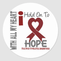 Multiple Myeloma I Hold On To Hope Classic Round Sticker