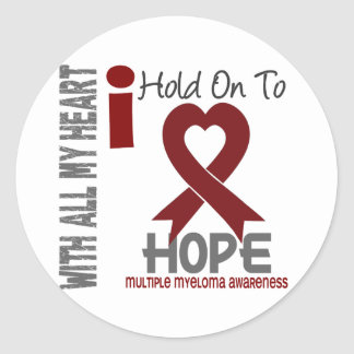 Multiple Myeloma I Hold On To Hope Classic Round Sticker