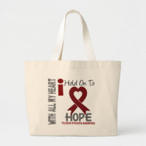 Multiple Myeloma I Hold On To Hope Large Tote Bag