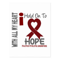 Multiple Myeloma I Hold On To Hope Postcard