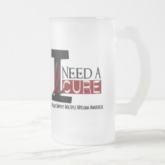 Multiple Myeloma I NEED A CURE 1 Frosted Glass Beer Mug