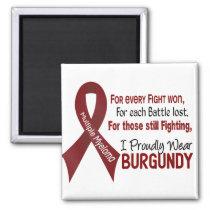 Multiple Myeloma I Proudly Wear Burgundy 1 Magnet