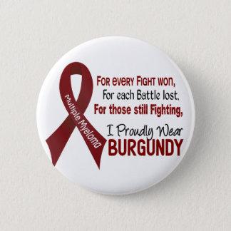 Multiple Myeloma I Proudly Wear Burgundy 1 Pinback Button