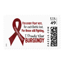 Multiple Myeloma I Proudly Wear Burgundy 1 Postage