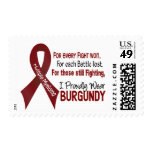 Multiple Myeloma I Proudly Wear Burgundy 1 Postage