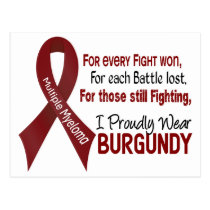 Multiple Myeloma I Proudly Wear Burgundy 1 Postcard