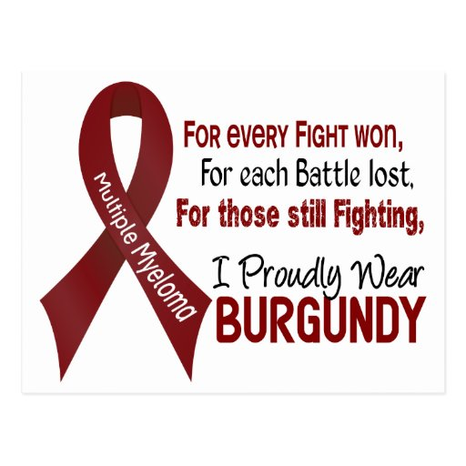 Multiple Myeloma I Proudly Wear Burgundy 1 Postcard