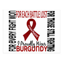 Multiple Myeloma I Proudly Wear Burgundy 2 Postcard