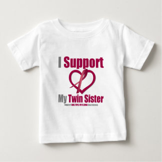 Multiple Myeloma I Support My Twin Sister Tee Shirt