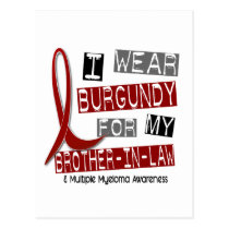 MULTIPLE MYELOMA I Wear Burgundy Brother-In-Law Postcard