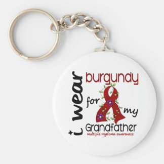 Multiple Myeloma I WEAR BURGUNDY FOR GRANDFATHER Key Chains