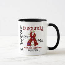 Multiple Myeloma I WEAR BURGUNDY FOR ME 43 Mug