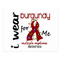 Multiple Myeloma I WEAR BURGUNDY FOR ME 43 Postcard