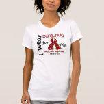 Multiple Myeloma I WEAR BURGUNDY FOR ME 43 T-shirt