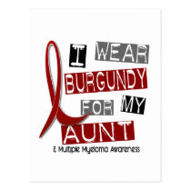 MULTIPLE MYELOMA I Wear Burgundy For My Aunt 37 Postcard
