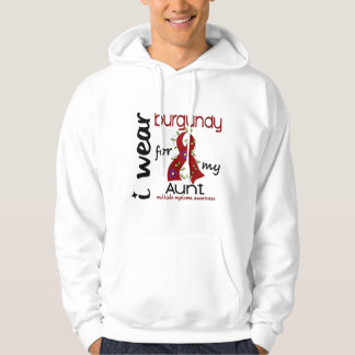 Multiple Myeloma I WEAR BURGUNDY FOR MY AUNT 43 Hoodie