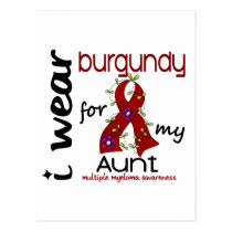 Multiple Myeloma I WEAR BURGUNDY FOR MY AUNT 43 Postcard