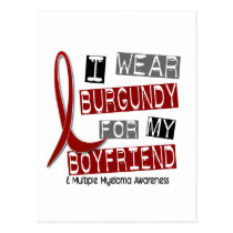 MULTIPLE MYELOMA I Wear Burgundy For My Boyfriend Postcard