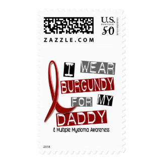 MULTIPLE MYELOMA I Wear Burgundy For My Daddy 37 Postage