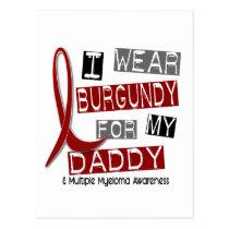MULTIPLE MYELOMA I Wear Burgundy For My Daddy 37 Postcard
