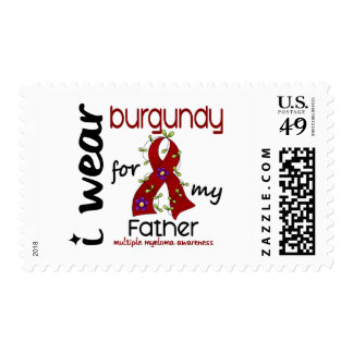 Multiple Myeloma I WEAR BURGUNDY FOR MY FATHER 43 Postage Stamp