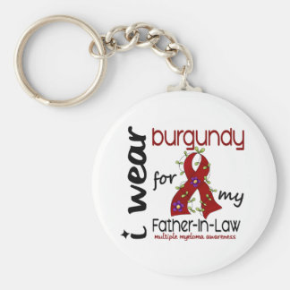 Multiple Myeloma I WEAR BURGUNDY FOR MY FATHER-IN- Key Chains