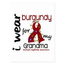 Multiple Myeloma I WEAR BURGUNDY FOR MY GRANDMA 43 Postcard