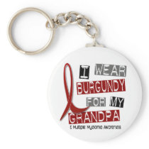 MULTIPLE MYELOMA I Wear Burgundy For My Grandpa 37 Keychain