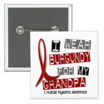 MULTIPLE MYELOMA I Wear Burgundy For My Grandpa 37 Pinback Button