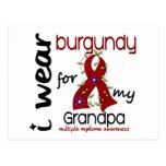 Multiple Myeloma I WEAR BURGUNDY FOR MY GRANDPA 43 Postcard