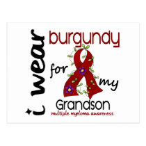 Multiple Myeloma I WEAR BURGUNDY FOR MY GRANDSON Postcard
