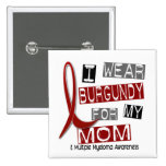 MULTIPLE MYELOMA I Wear Burgundy For My Mom 37 Button