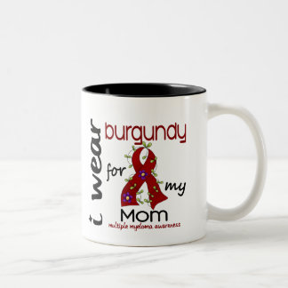 Multiple Myeloma I WEAR BURGUNDY FOR MY MOM 43 Two-Tone Coffee Mug