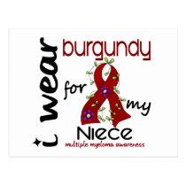 Multiple Myeloma I WEAR BURGUNDY FOR MY NIECE 43 Postcard