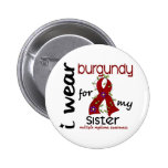 Multiple Myeloma I WEAR BURGUNDY FOR MY SISTER 43 Pinback Button
