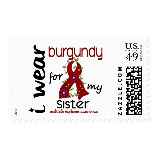 Multiple Myeloma I WEAR BURGUNDY FOR MY SISTER 43 Postage