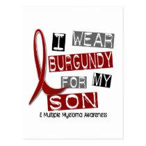 MULTIPLE MYELOMA I Wear Burgundy For My Son 37 Postcard