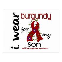 Multiple Myeloma I WEAR BURGUNDY FOR MY SON 43 Postcard