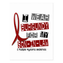 MULTIPLE MYELOMA I Wear Burgundy For My Son-In-Law Postcard
