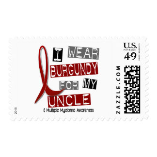 MULTIPLE MYELOMA I Wear Burgundy For My Uncle 37 Postage Stamps