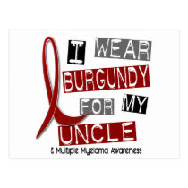 MULTIPLE MYELOMA I Wear Burgundy For My Uncle 37 Postcard