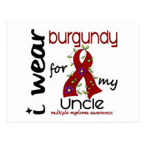 Multiple Myeloma I WEAR BURGUNDY FOR MY UNCLE 43 Postcard